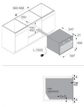 Встраиваемая микроволновая печь Asko OM8464A