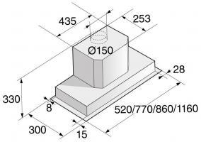 Полновстраиваемая вытяжка ASKO CC4527S_1