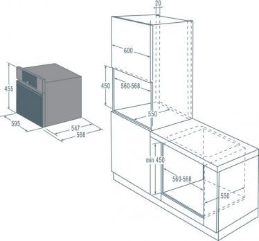 Компактный духовой шкаф с пароваркой Asko OCS8464S