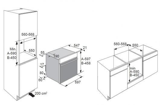 Электрический духовой шкаф Asko OT8664A