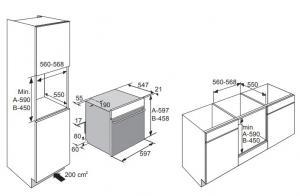 Электрический духовой шкаф с пароваркой ASKO OCS8664A_1