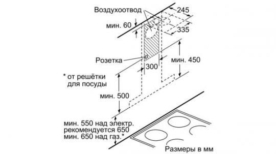 Т-образная вытяжка Neff D96BMV5N5