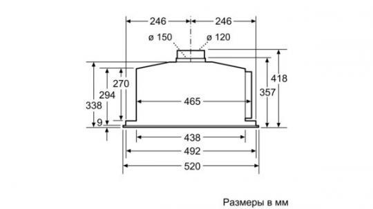 Полновстраиваемая вытяжка Neff D55ML66N1