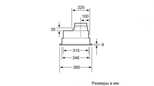 Полновстраиваемая вытяжка Neff D5855X1