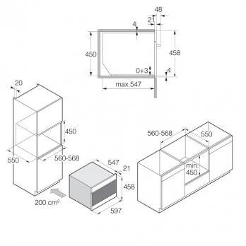 Компактный духовой шкаф с свч Asko OCM8487B