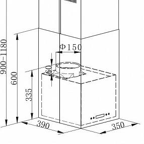 Островная вытяжка MAUNFELD BATH Light (Isla) 35 INOX
