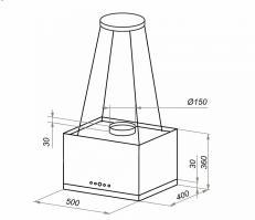 Островная вытяжка MAUNFELD BOX Rope (Isla) 50 GLASS Black_1