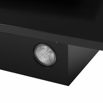 Наклонная вытяжка MAUNFELD TOWER Light 50 Black Glass Black