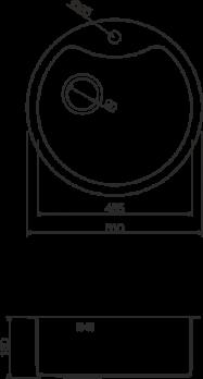 Кухонная мойка Omoikiri Sumida OSU-51-1-CO
