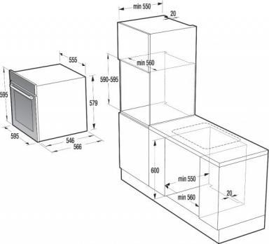 Электрический духовой шкаф Gorenje+ GP979X