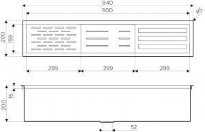 Встраиваемая сушка для посуды  DRY-02 LG (4999021) Omoikiri_1