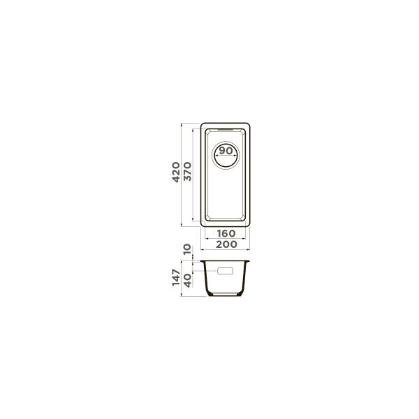 Кухонная мойка Omoikiri Kata 20-U-PA