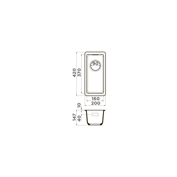 Кухонная мойка Omoikiri Kata 20-U-SA