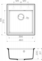 Кухонная мойка Omoikiri Daisen 46-DC_3
