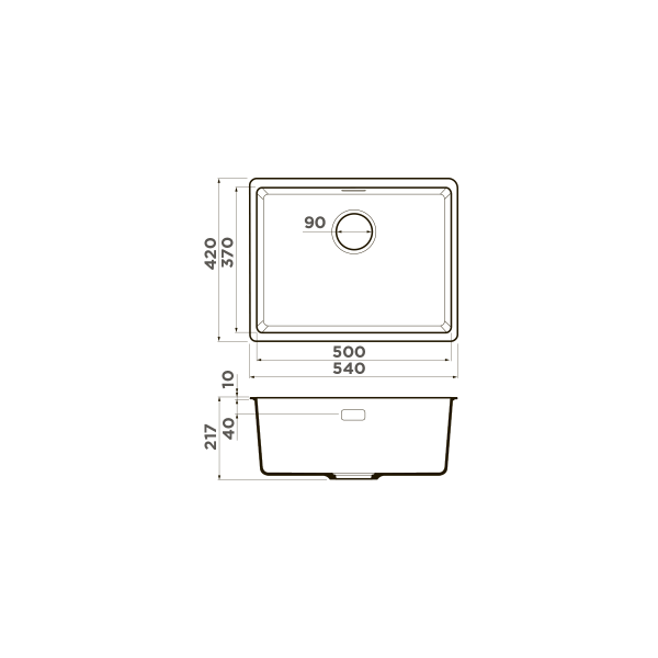 Кухонная мойка Omoikiri Kata 54-U-CA