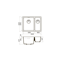 Кухонная мойка Omoikiri Kata 55-2-U-GR_2