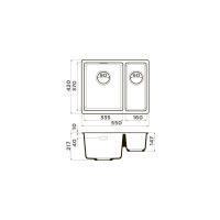 Кухонная мойка Omoikiri Kata 55-2-U-BL_2