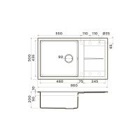 Кухонная мойка Omoikiri Sumi 86-BL_4