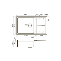 Кухонная мойка Omoikiri Sumi 86-DC_4