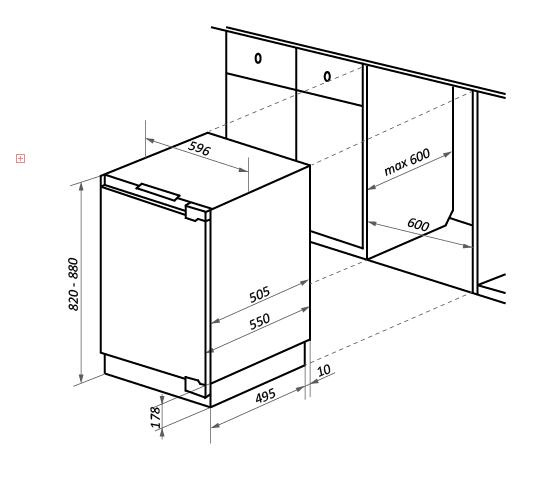 Холодильник встраиваемый MAUNFELD MBF88SW_11