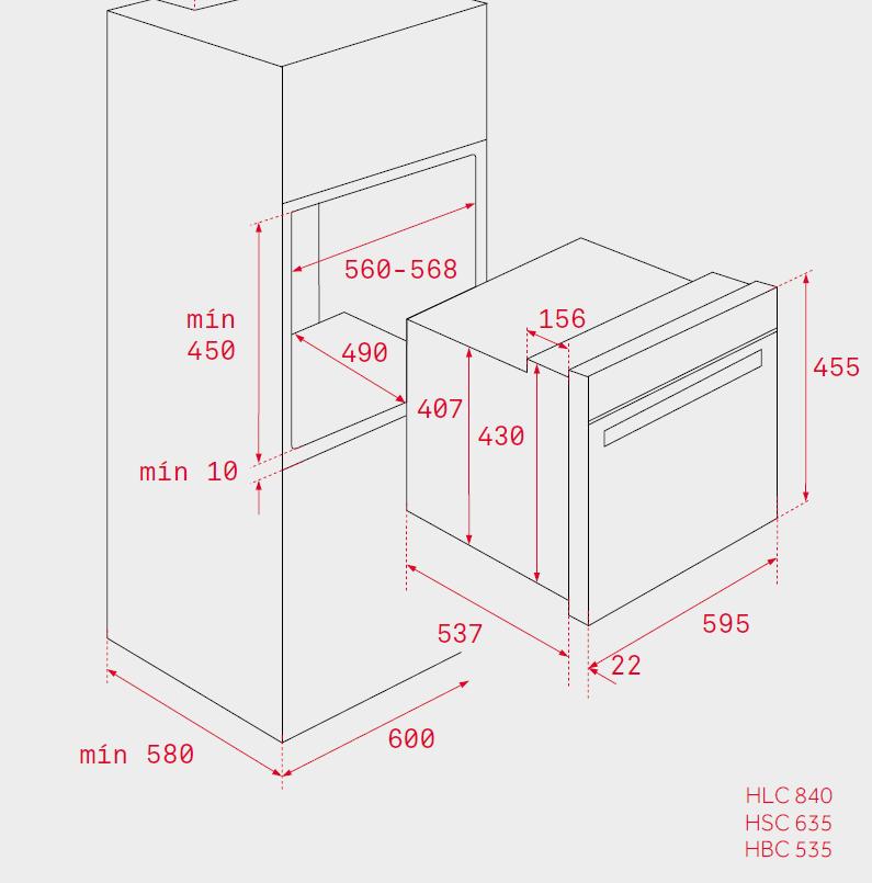 Компактный духовой шкаф Teka HSC 635 STAINLESS STEEL