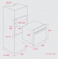 Компактный духовой шкаф Teka HLC 844 C WH_1