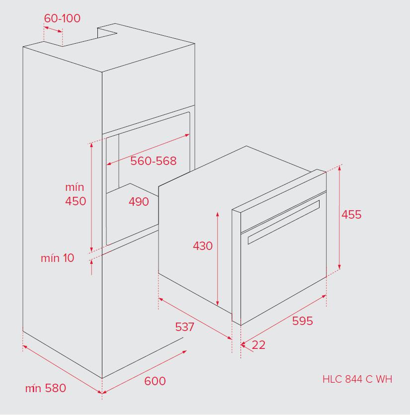 Компактный духовой шкаф Teka HLC 844 C WH