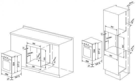 Электрический духовой шкаф GRAUDE BE 60.2 E