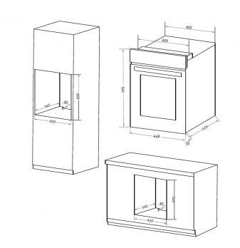 Электрический духовой шкаф MAUNFELD EOEM516W
