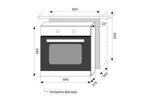 Электрический духовой шкаф LEX EDM 6070 C BL_1