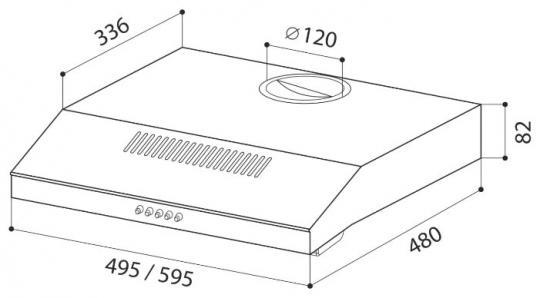 Козырьковая вытяжка LEX S 500 INOX