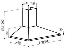 Купольная вытяжка LEX BASIC 500 WHITE_5