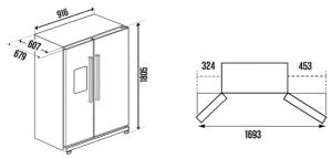 Холодильник-морозильник Side by Side Kuppersbusch KE 9750-0-2 T_2