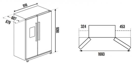Холодильник-морозильник Side by Side Kuppersbusch KE 9750-0-2 T