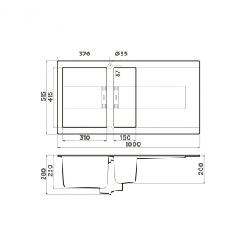 Кухонная мойка Omoikiri Banzen 100-2 GB
