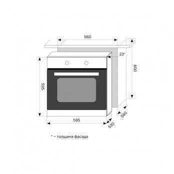 Электрический духовой шкаф Lex EDP 092 BL