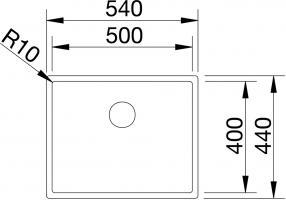 Кухонная мойка Blanco Claron 500-U Нержавеющая сталь_2