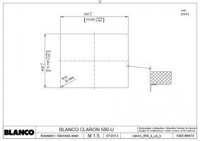 Кухонная мойка Blanco Claron 500-U Нержавеющая сталь_3
