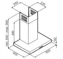 Т-образная вытяжка MONSHER DELTA 60 X_3