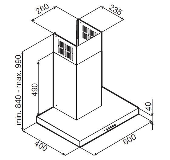 Т-образная вытяжка MONSHER DELTA 60 X