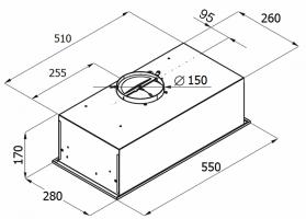 Полновстраиваемая вытяжка MONSHER INNA 55 B_3