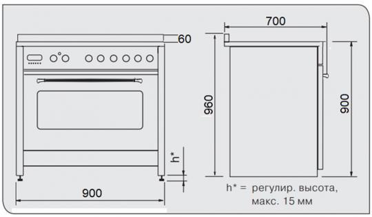 Комбинированная электрическая плита KUPPERSBERG ZBM 3399 C