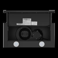 Вытяжка с выдвижным экраном Homsair Flat 60 Black_6