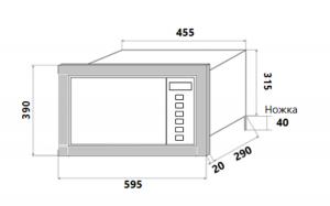 Встраиваемая микроволновая печь Homsair MOB205GB_8