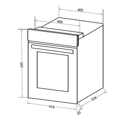 Электрический духовой шкаф Homsair OEF451BK