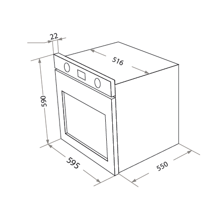 Электрический духовой шкаф Homsair OEM657S_1