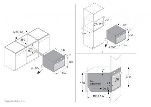 Компактный духовой шкаф 5 в 1 Asko OCSM8487S