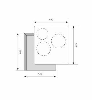 Электрическая варочная панель LEX EVH 430 BL
