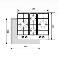 Варочная панель газовая LEX GVG 6043 C IV LIGHT_1