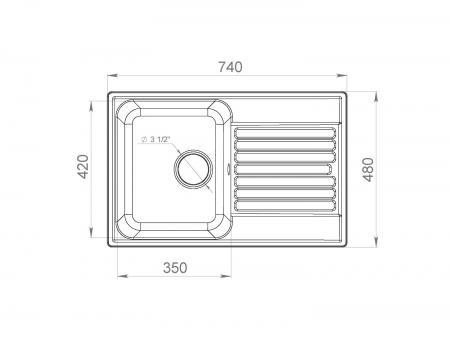 Кухонная мойка LEX GENEVA 740 SAND
